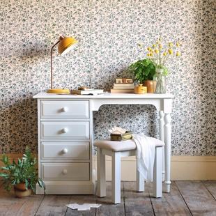 Burford Warm White Single Pedestal Dressing Table / Desk