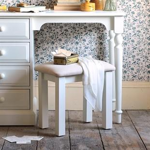Burford Warm White Dressing Table Stool
