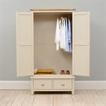 Lundy Stone Grey Bedroom Set with Gents Wardrobe (390.035 ...
