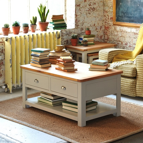 Lundy Stone Grey Coffee Table