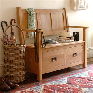 Farmhouse Painted Bench And Shelf Set The Cotswold Company