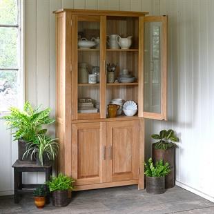 Newark Oak Glass Display Cabinet