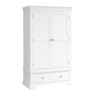 Chantilly Warm White Double Wardrobe