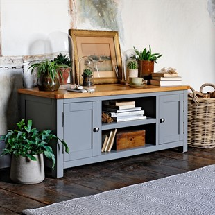 """Sussex Storm Grey Widescreen TV Unit - Up to 60"""""""